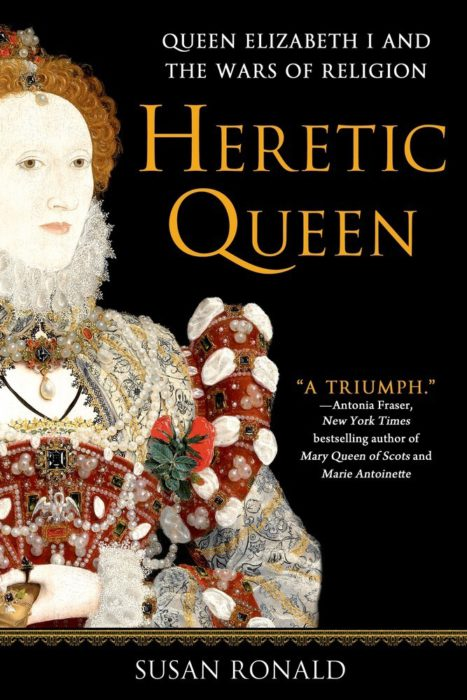 Account of Elizabeth I that focuses on her role in the Wars on Religion—the battle between Protestantism and Catholicisim that tore apart Europe in the 16th Century
